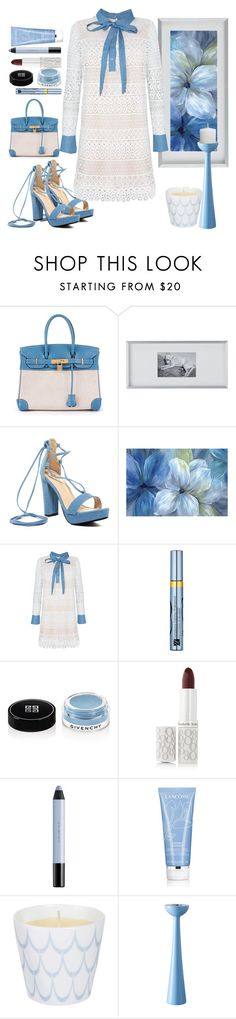 """Light Blue"" by loves-elephants ❤ liked on Polyvore featuring Hermès, CB2, Chase & Chloe, Estée Lauder, Givenchy, Elizabeth Arden, shu uemura, Lancôme, LINLEY and Superliving"