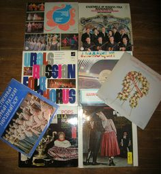 LOT of 8 Vintage 1970's Russian Records Folk Chorus Popular Hits USSR