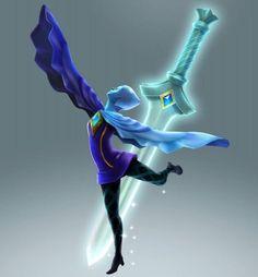 Fi and sword from the official artwork for #Hyrule Warriors #Zelda http://www.zelda-temple.net/hyrule-warriors