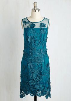 Soiree of Life Dress in Teal