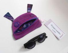 SALE Monster zipper pouch Zé coin-glutton: Purple by Zezling