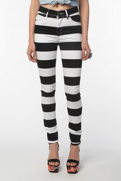 UrbanOutfitters.com > Cheap Monday Second Skin Jean - Black and White