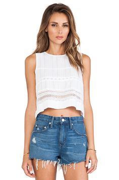 RA Salma Top in White at REVOLVE. Free day shipping and returns, 30 day price match guarantee. Cropped Tank Top, Crop Tank, Lace Crop Tops, Weekend Outfit, Revolve Clothing, White Shop, Camisole Top, Clothes For Women, Tank Tops
