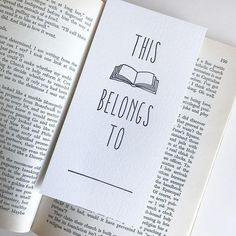 This Book Belongs To Letterpress Bookmark Bullet Journal Books, Bullet Journal Ideas Pages, Book Journal, Book Club Books, Good Books, After School Routine, Cute Doodle Art, Any Book, So Little Time