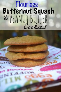 Flourless Butternut Squash and Peanut Butter Cookies. Great use of hidden veggies. No carbs.