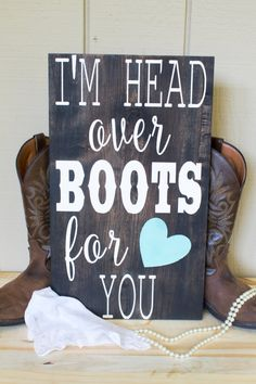 Free Personalization Painted I'm Head Over Boots by MamaLovesVinyl
