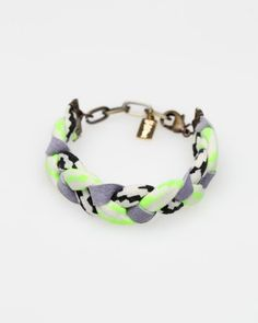 Braided Bracelet In Neon