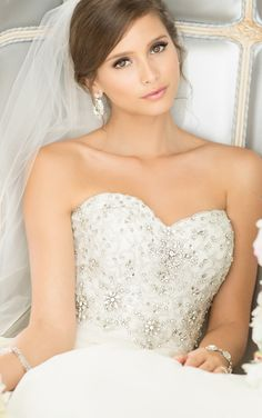 beaded bust with sweetheart neckline