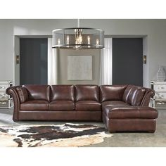 No need to pay Restoration Hardware prices for the rustic industrial style of RH—we have top grain leather seating for less. Angelina 2 Pc. Leather Sectional | Weekends Only Furniture and Mattress