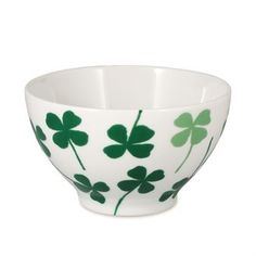 Lucky Clover Porcelain Cereal Bowls designed by Elisabeth Dunker for the House of Rym A/W Collection Dish Storage, Clover Green, Moomin, Cereal Bowls, Scandinavian Design, Matcha, Drinking, Fat, Tableware