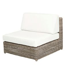 "Sag Harbor Sectional Armless Unit  Kingsley-Bate: Elegant Outdoor Furniture  37.5""w x 37.5""D x 29""H"