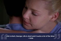"""Life can be a bitch sometimes. 23 Life Lessons We Learned From """"Grey's Anatomy"""" Grey Quotes, Grey Anatomy Quotes, Tv Show Quotes, Movie Quotes, Book Quotes, Grey's Anatomy, Dark And Twisty, Cristina Yang, Medical Drama"""