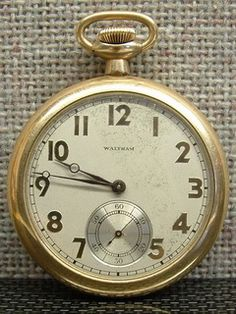 Simple and beautiful Waltham Model 1894 Pocket Watch