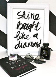 "9x12"" Shine Bright Like a Diamond - Gouache on 9x12"" 140 lb. paper. $27.00, via Etsy."