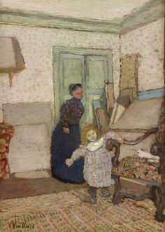 Édouard Vuillard (French, 1868-1940), Les Premiers Pas [The First Steps], 1900-01. Oil on canvas, 51.8 x 36.5 cm.