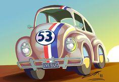 Herbie the Love Bug by sketchiegambit on deviantART