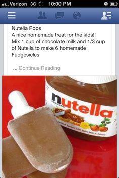 Nutella fudgecicles!