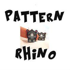 Seed Bead Patterns Brick Stitch Earrings  Pendant by BeadCrumbs