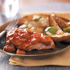 Applesauce Barbecue Chicken Recipe from Taste of Home -- shared by Darla Andrews of Farmers Branch, Texas