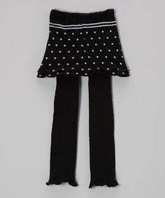 This Navy Polka Dot Skirted Leggings - Infant by Blossom Couture is perfect! #zulilyfinds