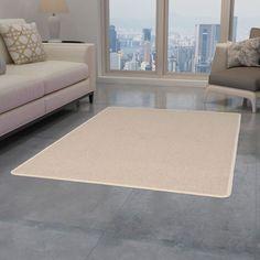 Beige Rug Symple Stuff Rug Size: Rectangle 80 x Cream Living Rooms, Living Room Carpet, Living Room Grey, Rugs In Living Room, Living Room Decor, Dining Room, Neutral Carpet, Patterned Carpet, Basement Carpet