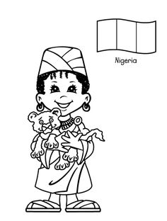 Around the World Printable free printable coloring page Kids From