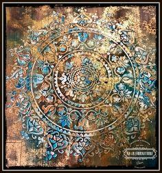 mandala rustic wooden wall art decor, crafts, home decor