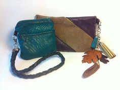 Recycled leather purses