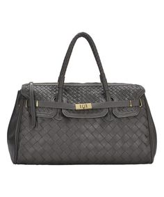 Gray Woven Rectangle Over-Size Handbag by Madison West #zulily #zulilyfinds