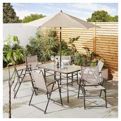 buy tesco hawaii metal garden furniture 8 piece set cappuccino from our metal garden furniture
