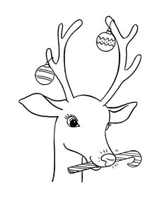 reindeer pictures to color | santas reindeer colouring pages (page 2)