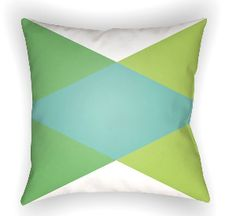 20 Moderne Pillow in Green & Light Blue