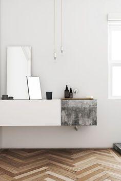 6 Accomplished Tips: Minimalist Interior Kitchen Lights minimalist home tour window.Minimalist Home Interior Architecture. Bad Inspiration, Decoration Inspiration, Bathroom Inspiration, Interior Inspiration, Decor Ideas, Interior Minimalista, Minimalist Decor, Minimalist Interior, Minimalist Living