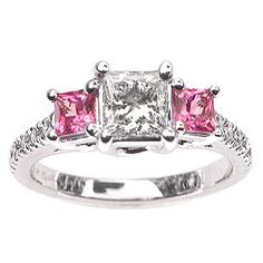 Pink Diamond! I so want this! This would be the best wedding ring ever! Love the color the cut!