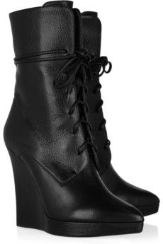 Reed Krakoff - Textured-leather wedge boots