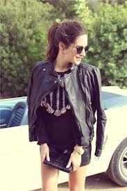 all black ensemble, leather skirt & jacket: AMLUL. Gala Gonzalez, Dress Form, Dress Up, Sunnies, Fade Styles, Michael Kors, Winter Wear, Blazer Jacket, Vest