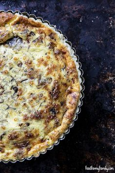 Caramelized Shallot and Gruyere Rosemary Quiche