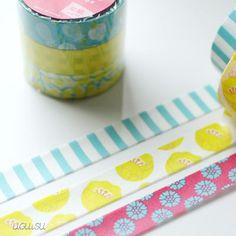 Colte Japanese Washi Tape Set {Tulip/Daisy/Stripe} Yellow