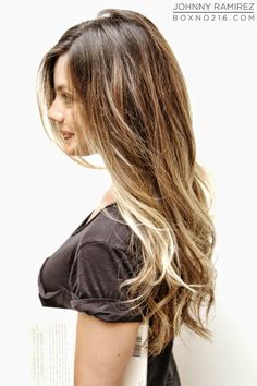 Box No. 216: Pretty light brown base and beige blonde highlights #ombre #balyage