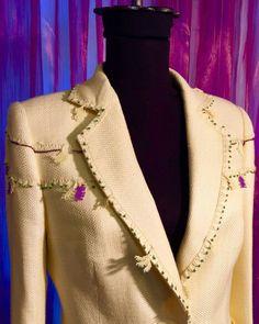 Tasarım jacket keten trent yellow