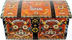 antique rosemaled trunk - Google Search