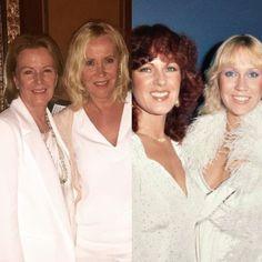still the same... Anni-Frid Lyngstad and Agnetha Fältskog in 2016 and 1980