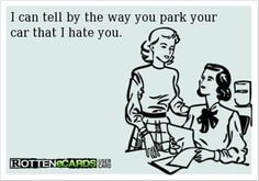 Especially if you park right on top of the line.