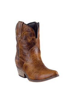 9595dc7b0c7 Dingo® Womens Adobe Rose Western Boots - Lt. Brown Short Cowgirl Boots