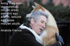 """""""Amíg meg nem tapasztaltuk, milyen érzés szeretni egy állatot, lelkünk egy része mélyen alszik."""" (Anatole France) - A kép forrása: Egészség, Vidámság, Szeretet # Facebook"""