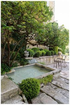 A simple dipping pool set within the limestone cliff at La Louve garden in Provence, France. image by garden design provence france Inspired by Farlam & Chandler's Pretty & Practical Garden Details Modern Garden Design, Landscape Design, Outdoor Rooms, Outdoor Living, Outdoor Areas, Provence Garden, Provence France, Mini Piscina, Dipping Pool