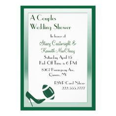 Football Themed Couples Wedding Shower Invitation