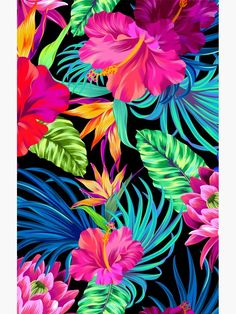 girly iphone wallpaper - Drive You Mad Hibiscus Pattern Graphic TShirt Tropical Wallpaper, Summer Wallpaper, Colorful Wallpaper, Flower Wallpaper, Trendy Wallpaper, Phone Wallpapers, Cute Wallpapers, Wallpaper Backgrounds, Wallpaper Samsung