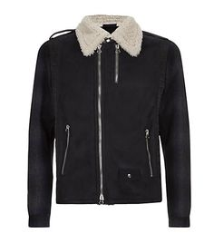 Lanvin Leather and Wool Biker Jacket