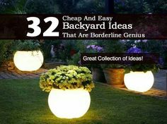 32 cheap and easy backyard ideas  http://plantcaretoday.com/32-cheap-and-easy-backyard-ideas-that-are-borderline-genius.html